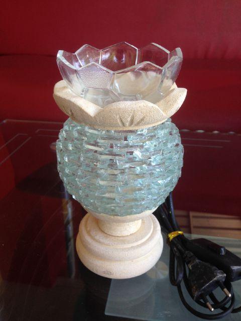 tungku aromaterapi elektrik batu alam model kaca bulat