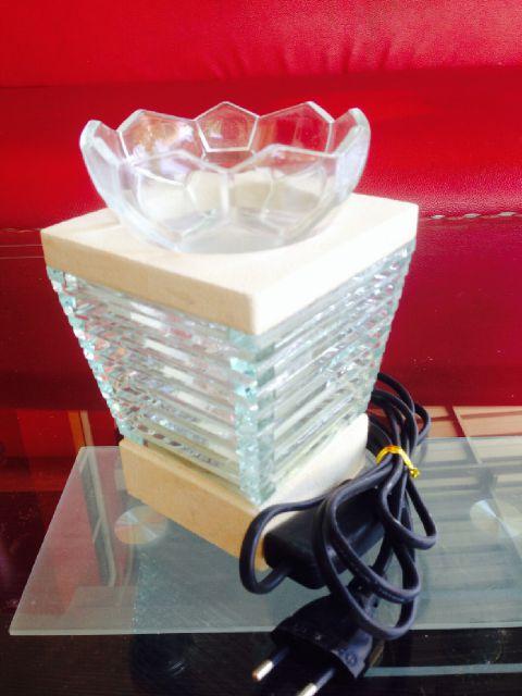 tungku aromaterapi elektrik batu alam model piramid