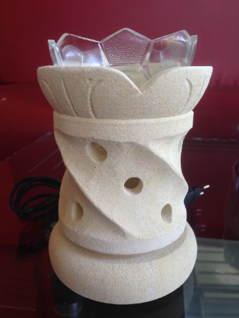 tungku aromaterapi elektrik batu alam model spiral